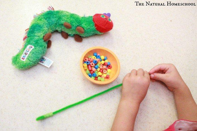 The Very Hungry Caterpillar: Easy Fine Motor Skills Bead Craft