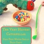 The Very Hungry Caterpillar: Easy Fine Motor Skills Bead Craft