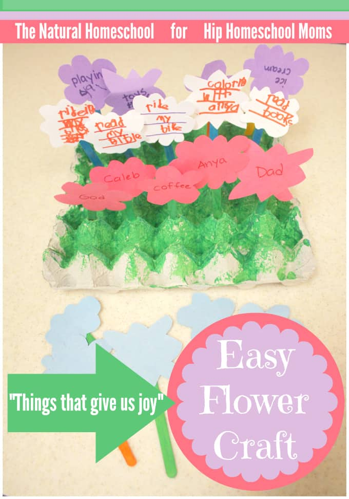 """Things That Bring Us Joy"" Easy Flower Craft"