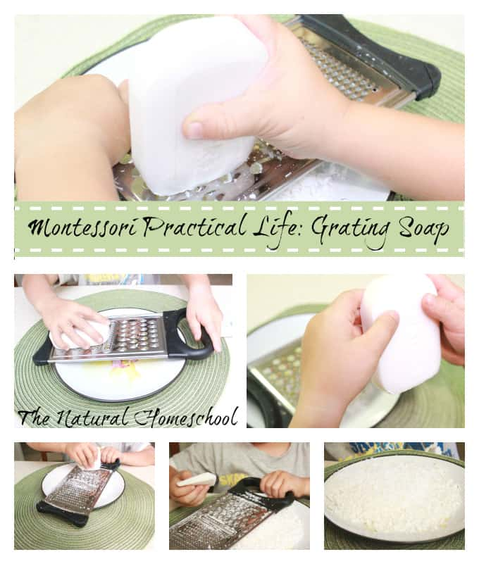 Montessori Practical Life: Grating Soap