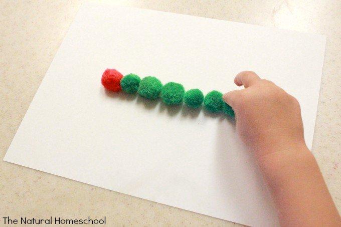 The Very Hungry Caterpillar Pom Pom Craft