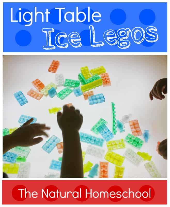 Light Table Ice Legos