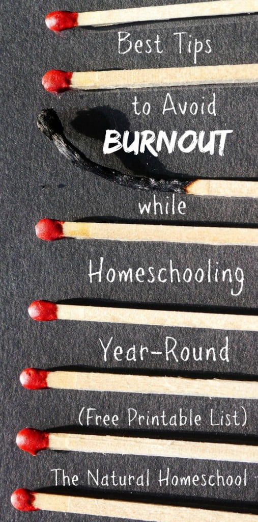 Best Tips to Avoid Burnout while Homeschooling Year-Round