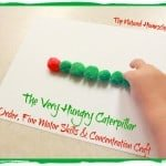The Very Hungry Caterpillar Pom Pom Craft