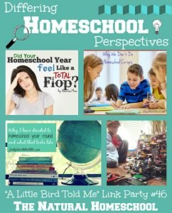 Differing Homeschool Perspectives & Link Party  #46