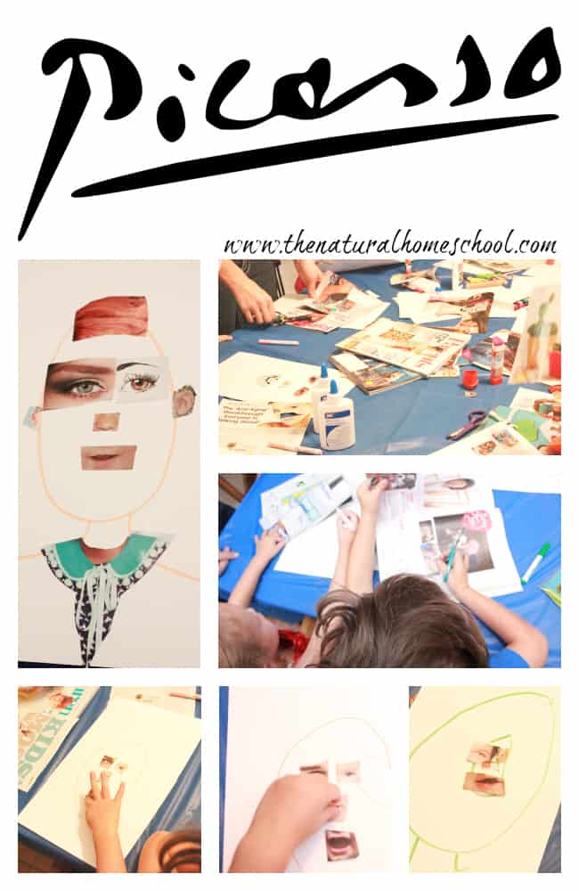 Come look at these Picasso, Kandinsky, Mondrian Art lesson for preschoolers!