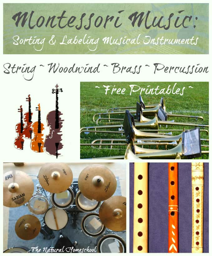 Montessori Music: Sorting & Labeling Musical Instruments {Free Printables}