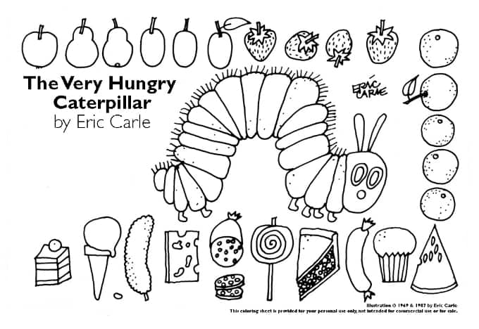 photograph about Caterpillar Printable identified as 20 of The Suitable Unbelievably Hungry Caterpillar Actions Crafts