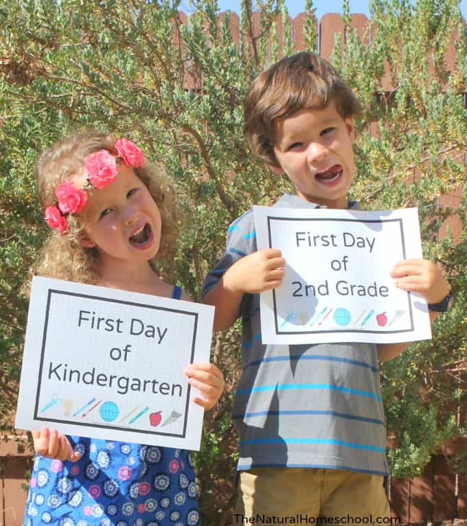 "We homeschool year-round, but we always ""start"" our homeschool year around this time. Soon, it will be our first day of school at home!"