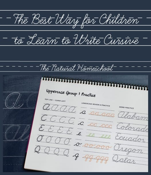 The Best Way for Children to Learn to Write Cursive {Free Printables}