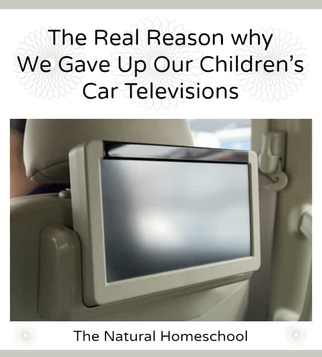 Why We Gave Up Our Children's Car DVD Player