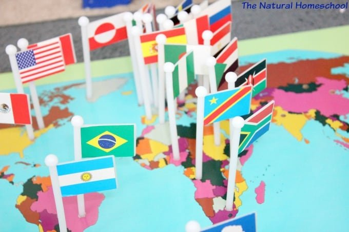 Country Flags of the World: A Fun Geography Lesson {Free Printable Sets}