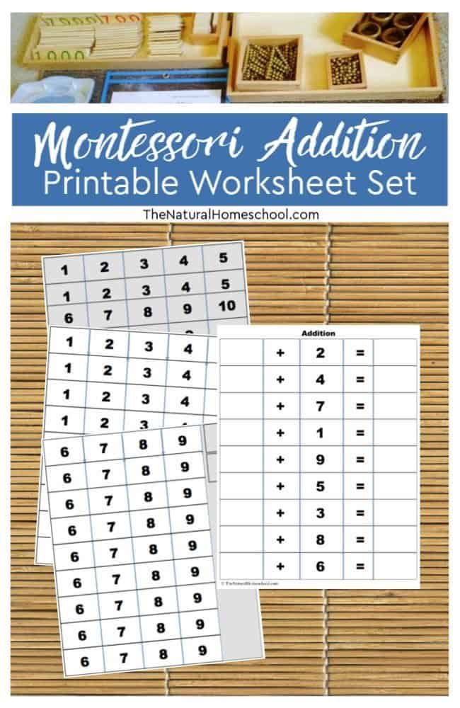 In this post, I will show you a sample lesson with the best Montessori addition printable worksheet, as well as show you how easy it is to bring Montessori to your home.