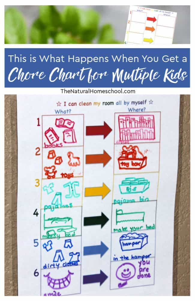 Read on to find out what happens when you get a chore chart for multiple kids! And don't forget to check out our chore chart hub!