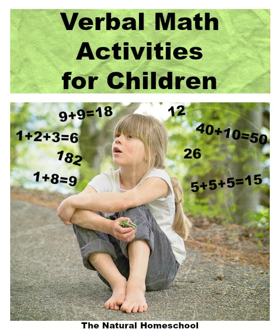 Verbal Math Activities for Children {Free Printable Lessons}