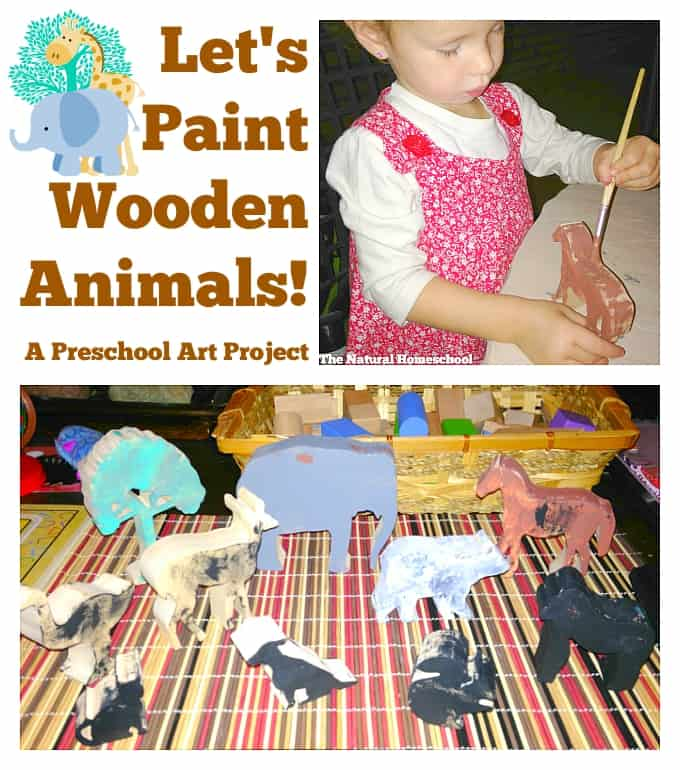 Let's Paint Wooden Animals! A Preschool Art Project