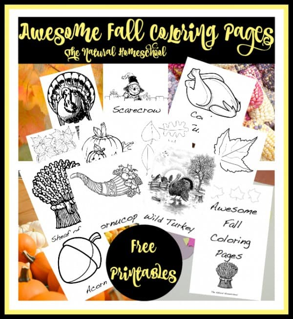 Crafts & Activities with Corn, Pumpkins & Turkeys {Free Printables}