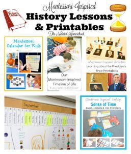 Montessori-Inspired History Lessons & Printables {Link Party 66}