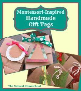 Montessori-Inspired Handmade Christmas Gift Tags