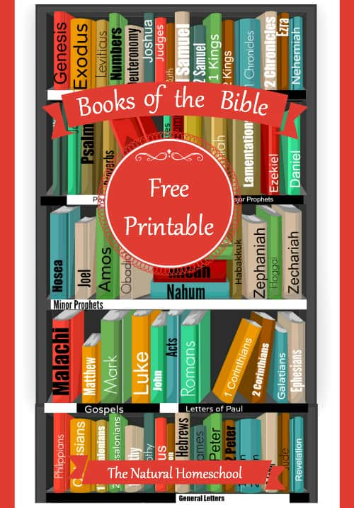 Memorize the Books of the Bible Printable - The Natural Homeschool