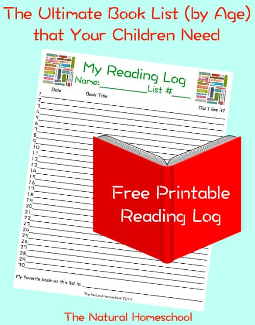 reading log printable pin