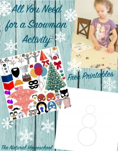 All You Need for a Snowman {Book activity + Free Printable}