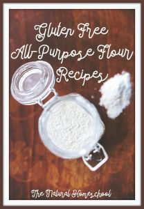Gluten Free All-Purpose Flour Recipe with 4 Variations {Free Printable Labels}