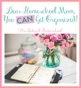 Dear Homeschool Mom, You Can Get Organized! {Free Printable}