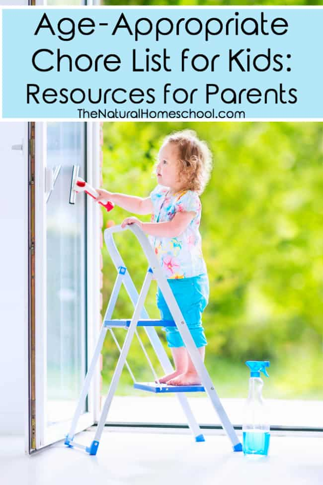 Age-Appropriate Chore List for Kids Resources for Parents