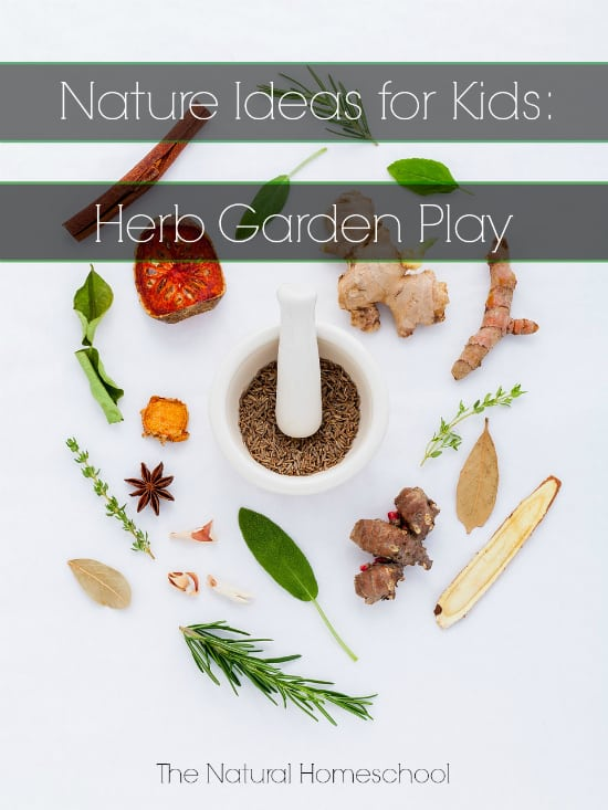 Nature Ideas for Kids: Herb Garden Play