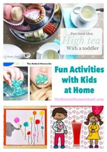 Fun Activities with Kids at Home {Link Party 78}