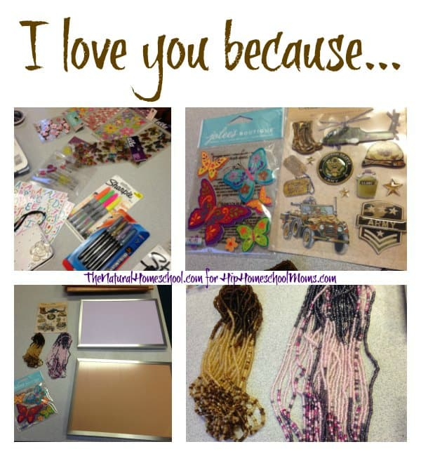 """I love you because"" List and Craft Tutorial"