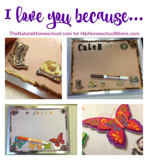 """""""I love you because"""" List and Craft Tutorial"""