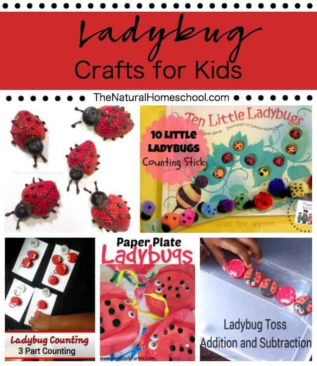 Ladybug Crafts for Kids {Link Party #81}