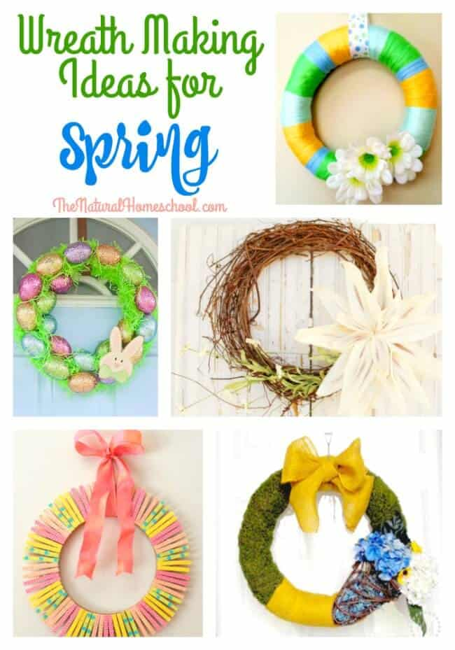 Wreath Making Ideas for Spring {Link Party #83}