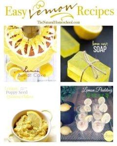 Easy Lemon Recipes {Link Party 85}
