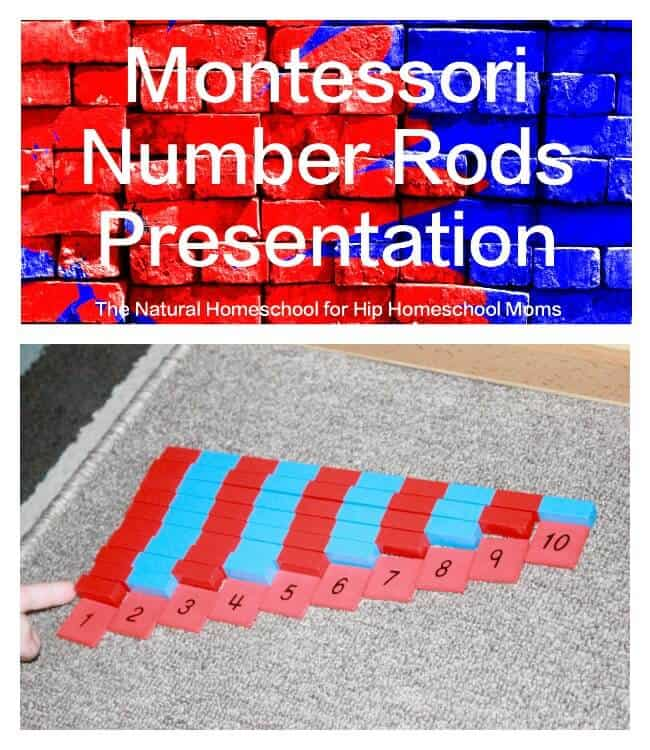 Montessori Number Rods Presentation {Free Printable}
