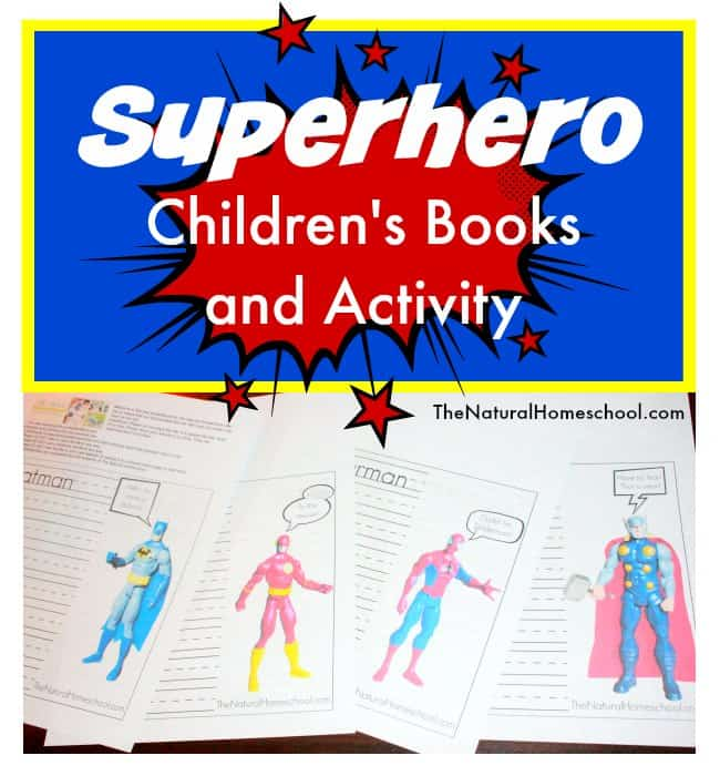 We are excited to share with you a small list of fun superhero children's books and activity that we did as well as free superhero printable pages that you can download here. Don't forget to read to the very end because we have a list of more superhero and even some princess posts.