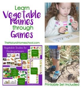 Learn Vegetable Names in English through Games {Printables}