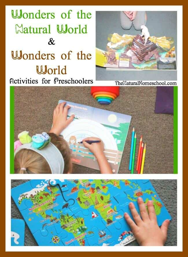 Wonders of the Natural World & Wonders of the World Activities for Preschoolers
