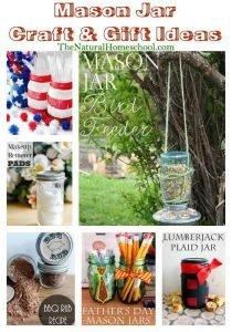 Mason Jar Craft Ideas {Link Party 92}