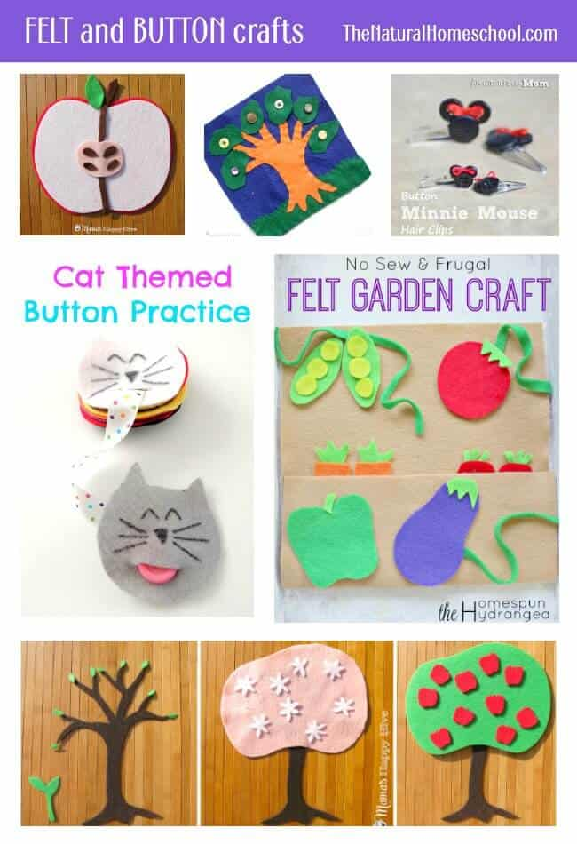 Easy Felt and Button Crafts