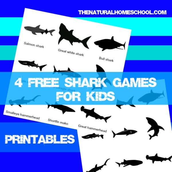 Free Shark Games for Kids {Printables}