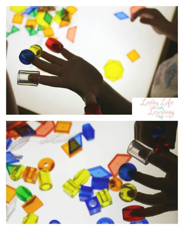Geometric Shape Fun on the Light Table