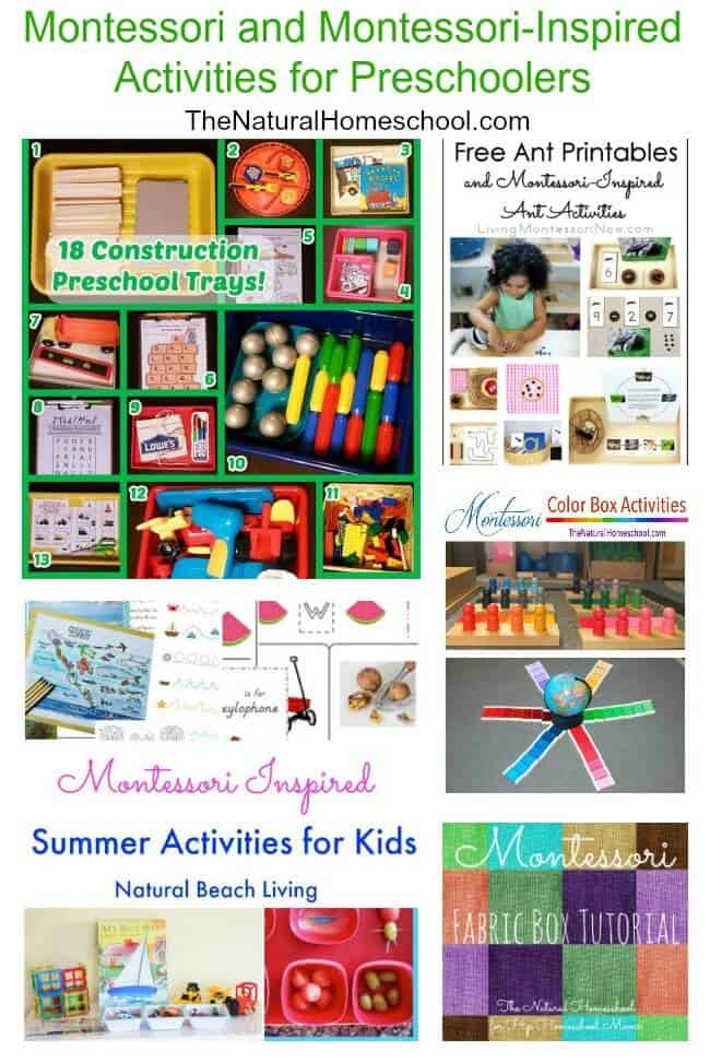 Montessori and Monstessori-Inspired Activities for Preschoolers