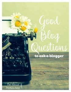 Good Blog Questions {FAQs for bloggers}