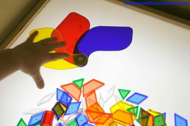 Gift Ideas for Preschool Light Table Activities