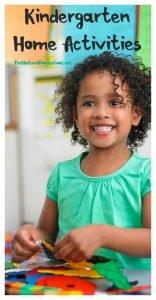 Educational Kindergarten Home Activities