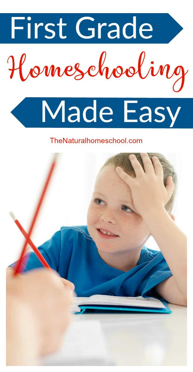 First grade homeschooling made easy for you...right here...right now... :)