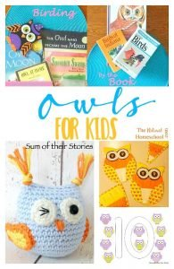 Owls for Kids {Link Party 110}